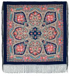 traditional Russian scarfs from Pavlov Posad are my weakness.... need few more for my collection!