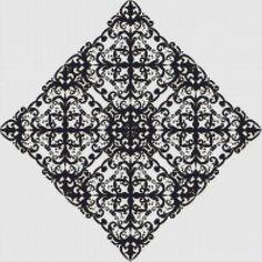 Black Rhombus Cross Stitch Pattern
