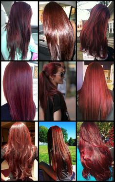 Cherry Red Hair Color For Dark Hair The Cherry Red Hair Color For Dark Hair could be your choice whe Cherry Coke Hair, Cherry Red Hair, Dye My Hair, New Hair, Hair Color For Black Hair, Fall Hair, Winter Hair, Fall Winter, Gorgeous Hair