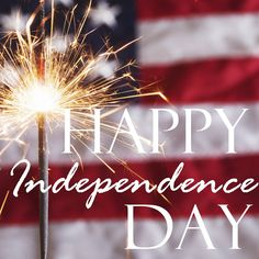 To be independent is to be free. It's a great feeling. What are you free of? Happy Independence Day!!