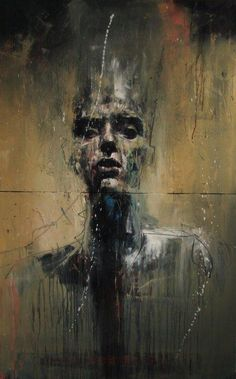 check out the painting of british artist guy denning . i think he describes his work (and the process of painting) the best. Abstract Portrait, Portrait Art, Life Drawing, Painting & Drawing, Street Art, Art Graphique, Art Plastique, Figurative Art, Dark Art