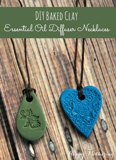These baked clay essential oil diffuser necklaces are super fun and easy to make. You can use them to diffuse your favorite essential oils on the go.