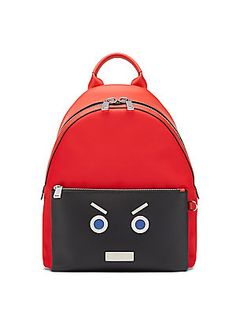 70695662242fa Fendi Fendi Faces Leather Backpack Red   Buy replica watches