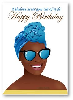 Birthday woman - Beautiful black woman with head wrap card Available Now -This Afrocentric birthday Happy Birthday Woman, Happy Birthday Black, Happy Birthday Quotes, Happy Birthday Images, Happy Birthday Greetings, Birthday Memes, Birthday Shots, Birthday Board, Birthday Messages