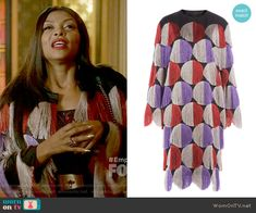 Marco de Vincenzo Fringed Coat worn by Cookie Lyon (Taraji P. Henson) on Empire Empire Cookie, Cookie Lyon, Fringe Coats, Taraji P Henson, Film Fashion, Fashion Outfits, Empire Style, Costume Design, Fashion Forward