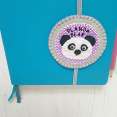 """Ideal for any panda fan or planner nerd, this cute """"planda bear"""" will keep you company as you devise your plans for world domination! Teacher Appreciation Gifts, Teacher Gifts, Book Journal, Journal Ideas, Panda Puns, Panda Gifts, Felt Gifts, Teacher Thank You, Page Marker"""