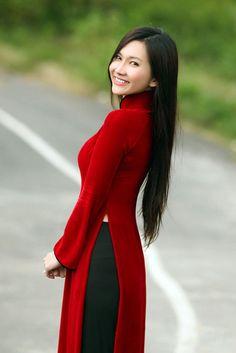 vietnam tranotional long dress ao dai truyenthong by phuongdo, $89.00