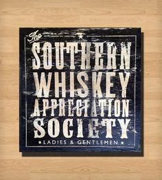 Whiskey Appreciation Society Wood Sign | Home Decor | Old Dirty Type | Scoutmob Shoppe
