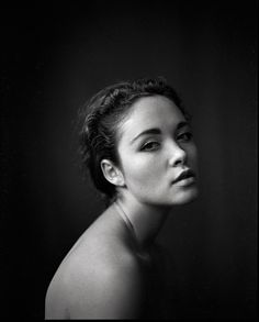 Black and White Photography Woman Portrait by Jan Scholz