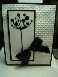 Black and White #embossing #diecuts #ribbon