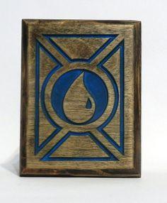 Magic the Gathering Deck Box Blue Mana, Card Case, for Magic the Gathering, MTG, Pokemon, Yugioh Handmade by FoxAndDragon on Etsy