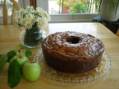 apple-dapple-cake...with such a wonderful caramel sauce poured on this warm cake...imagine a big warm piece on a saucer right now...