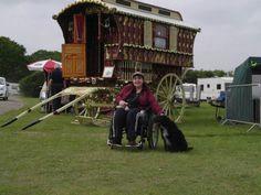Sarah & Gypsy wagon.
