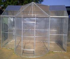 how to build a bird aviary outdoors