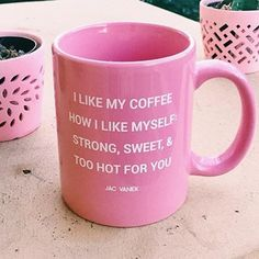 Coffee is gasoline for humans and this is very true, below are some of the best Coffee Humor quotes, so you can have fun being coffee lover Coffee Love, Coffee Cups, Tea Cups, Coffee Coffee, Girly Things, Good Things, Cute Mugs, Mug Shots, Mug Cup