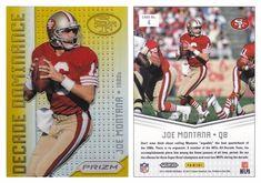 Joe Montana 2012 Panini Prizm 4 Decade Dominance Gold Refractor (#01/10)