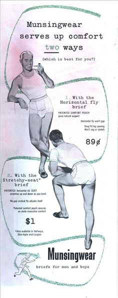 (Unintentionally) Homoerotic Vintage Underwear Ads