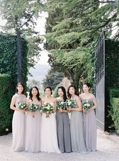 Bridesmaid Dress From A Gorgeous Organic Tuscany Wedding - Once Wed.  #realweddings #outdoorweddingideas #bridesmaiddressesaline