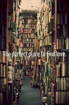 I'm not sure if they mean books are the perfect place to find love (love story, fall in love with the character/place/story) or if bookstores are the perfect place to find a good guy book nerd. Both work for me :)