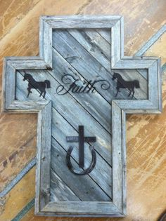 Rustic wooden cross by CraftsbyDJscabinets on Etsy, $60.00
