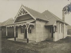 https://flic.kr/p/bVqE89 | Camerated concrete house | Henry A. Goddard, who at one time was Mayor of Concord, patented the cammerated concrete process in 1905. This is one of the completed houses built  in Ada Street, Concord, NSW.  More photographs at imagelibrary.canadabay.nsw.gov.au/Library