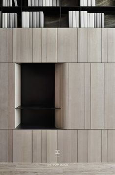One work Design on Behance Shelf Design, Cabinet Design, Cool Furniture, Furniture Design, Furniture Movers, Feature Wall Design, Joinery Details, Wood Images, Wardrobe Design