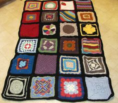 Ravelry: costumer47's crazy Quilt swap afghan