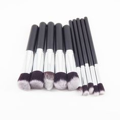 4.97$  Watch now - http://alif8j.shopchina.info/go.php?t=32659154813 - 10pcs Full Set Women Makeup Brush Kit Superior Professional Soft Cosmetic Brushes for Makeup-MT005  #SHOPPING