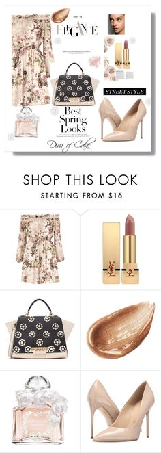 """""""Best Spring outfit"""" by kercey ❤ liked on Polyvore featuring River Island, Yves Saint Laurent, ZAC Zac Posen, Jouer, Guerlain, H&M, Massimo Matteo and Bare Escentuals"""