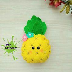 Felt pdf pattern Pineapple