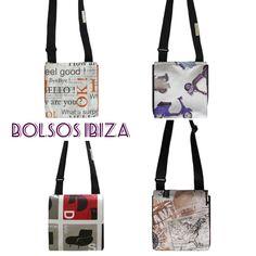 Bolsos Ibiza de hule estampado combinado con piel de colores. Combina estampados y pieles a tu gusto. www.arethaju.com