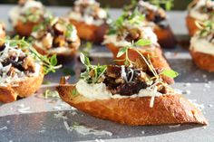 Bruschetta, Baguette, Baked Potato, Bacon, Beverages, Brunch, Appetizers, Ethnic Recipes, Food