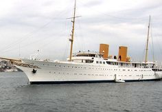 """""""Savarona"""" was a steam turbine yacht. Big Yachts, Super Yachts, Luxury Yachts, Sailing Yachts, Steam Turbine, Classic Yachts, Istanbul, Adventure Of The Seas, Float Your Boat"""