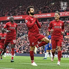 Liverpool Chelsea: Mo Salah scores a stunning goal as Reds reclaim lead in title race. Liverpool Fc Champions League, Liverpool Players, Liverpool Football Club, Liverpool Fc Wallpaper, Liverpool Wallpapers, Steven Gerrard, Premier League, Mohamed Salah Liverpool, Burnley Fc