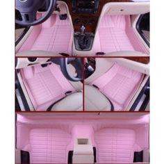 Jeep Wrangler Car Mats Ultimate Custom Full-Surrounded Pink