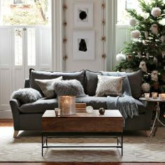 Love this Sofa setup and colors!  Bliss Down-Filled Sofa | west elm