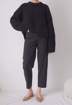 Items similar to Studio Trousers- High-waisted wool twill structured ankle-length trousers ( limited edition ) on Etsy Simple Outfits, Casual Outfits, Cute Outfits, Fashion Outfits, Work Wardrobe, Capsule Wardrobe, How To Have Style, My Style, Winter Wardrobe Essentials