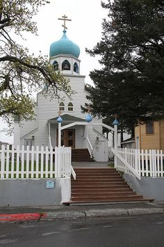 Church in Kodiak that I grew up in- the most beautiful place in the world.