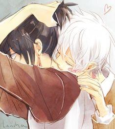 o que você está fazendo!? ~ nezumi /              Estou mordendo o seu pescoço ~ shion            (ノ≧∀≦)ノ     anime - mangá -  No.6 - yaoi - bl - boys love - fushoji - nezumi e shion