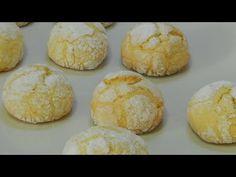 Galletas casera de limón craqueadas una delicia muy sabrosa y crujiente - YouTube Hamburger, Muffin, Bread, Breakfast, Food, Youtube, Gastronomia, Homemade Cookie Recipe, Cooking Recipes
