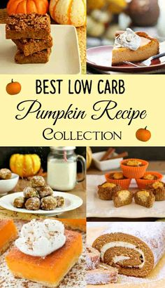 Best Low Carb Pumpkin Recipe Collection- Delicious, gluten free low carb pumpkin recipes!