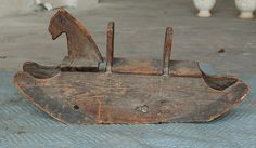 Primitive Wood Hobby Horse Folk Art Original Wooden Very Cool Old Piece Antique