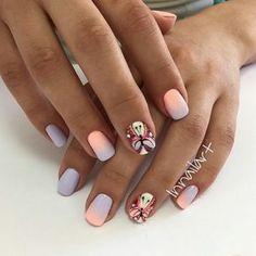 50 Nail Art Design for Perfect Summer - Elegant Nails, Stylish Nails, Trendy Nails, Cute Nails, Colorful Nail Designs, Nail Art Designs, Minion Nails, Butterfly Nail Art, Geometric Nail Art