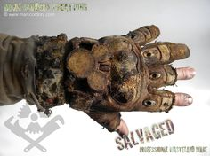 Post Apocalyptic Costume - gloves for Airsoft - LARP. SALVAGED Ware enquiries always welcome @ www.markcordory.com