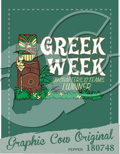 Greek Week tiki idol #grafcow
