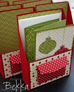 ornament punch - stampin up.  card gift box