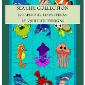 Sea Life Collection E-Book  - via @Craftsy. Make into cloth book.