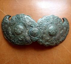 GREEK SILVER BUCKLE 19nth century by Glorypast on Etsy