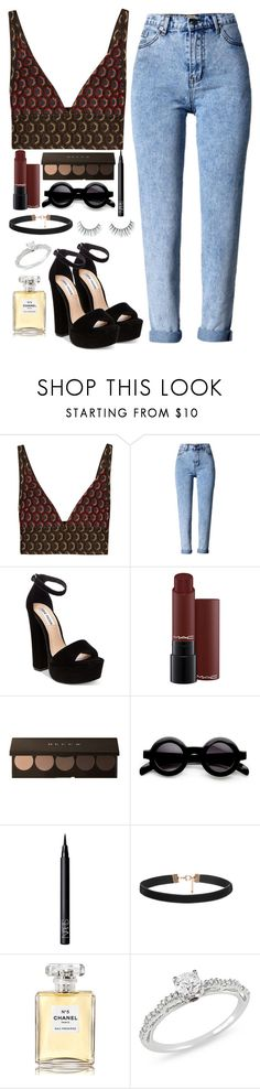 """you don't know me"" by meli3108 ❤ liked on Polyvore featuring Marni, Steve Madden, NARS Cosmetics, Chanel, Ice and Unicorn Lashes"