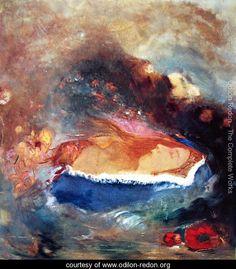 The blue mantle - Odilon Redon - www.odilon-redon.org